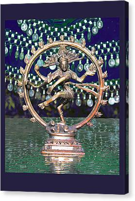 Shiva Upon The Water Canvas Print by Susan Alvaro