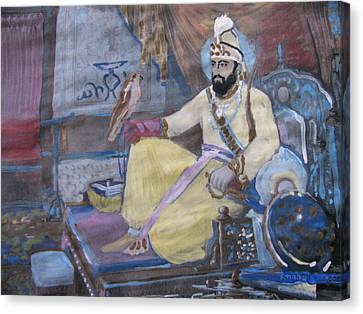 Canvas Print featuring the painting Guru Gobind Singh by Vikram Singh