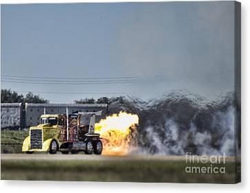 Shockwave Jet Truck V2 Canvas Print by Douglas Barnard