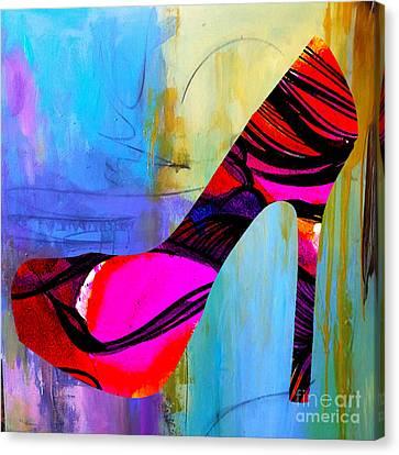 Shoe Fashion Canvas Print by Marvin Blaine