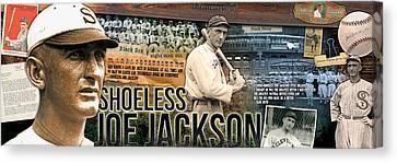 Slugger Canvas Print - Shoeless Joe Jackson Panoramic by Retro Images Archive