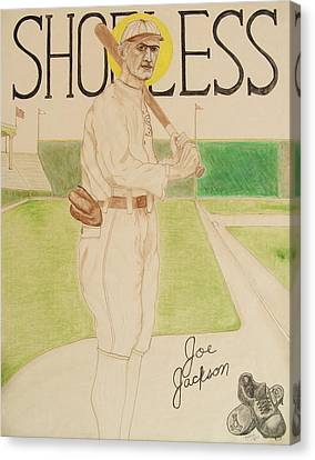 Shoeless Joe Jackson Canvas Print by Rand Swift