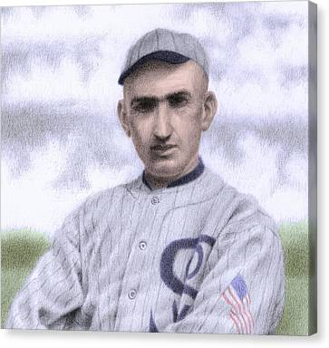 Batter Canvas Print - Shoeless Joe by Steve Dininno