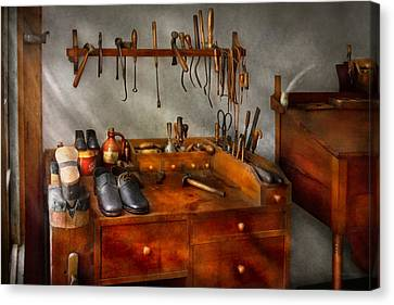 Shoemaker - The Cobblers Shop Canvas Print by Mike Savad
