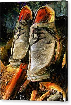 Shoes - Drawing Canvas Print