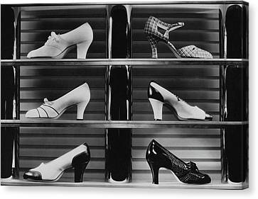 Shoes For Sale Canvas Print by Anton Bruehl