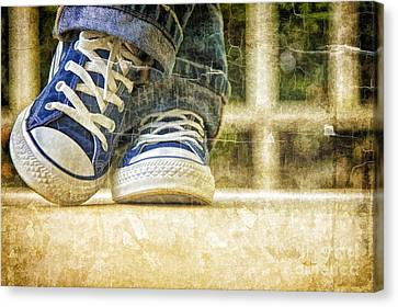 Canvas Print featuring the photograph Shoes by Linda Blair