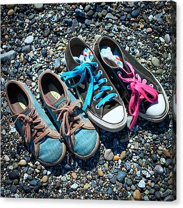 Shoes On Beach Canvas Print