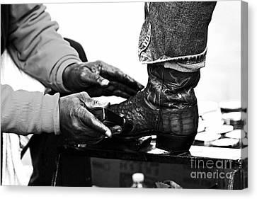 Shoeshine Canvas Print