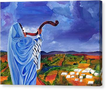 Shofar I Canvas Print by Dawnstarstudios