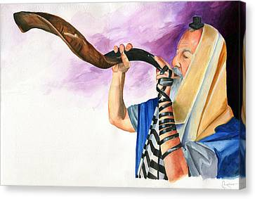 Shofar II Canvas Print by Dawnstarstudios
