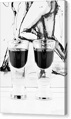 Shoot Glasses Canvas Print