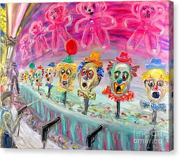 Shoot The Clowns Canvas Print by Arthur  Robins