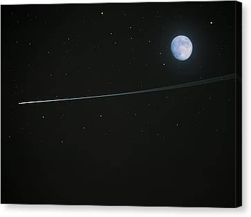 Shooting Star Canvas Print by Pete Trenholm