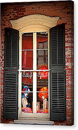 Shop Window Canvas Print by Beth Vincent