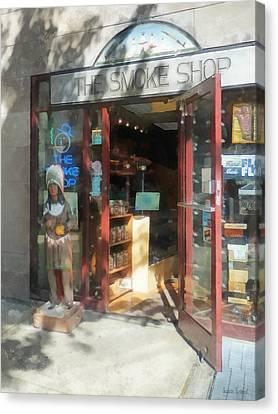 Shopfronts - Smoke Shop Canvas Print by Susan Savad