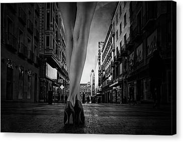 Shopping Afternoon Canvas Print