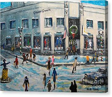 Shopping At Grover Cronin Canvas Print by Rita Brown