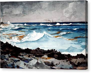 Shore And Surf  Canvas Print by Celestial Images