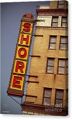Shore Building Sign - Coney Island Canvas Print