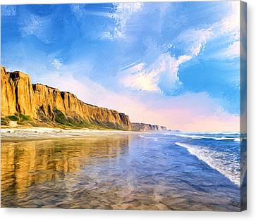Shore Cliffs Near San Onofre Canvas Print by Dominic Piperata