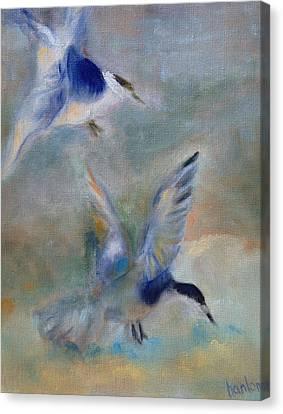 Shorebirds Canvas Print by Susan Hanlon