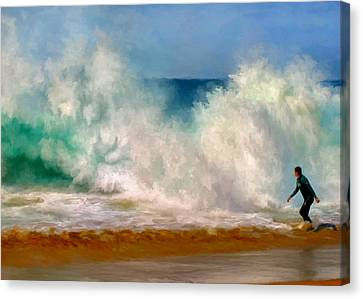 Shorebreak At The Wedge Canvas Print by Michael Pickett