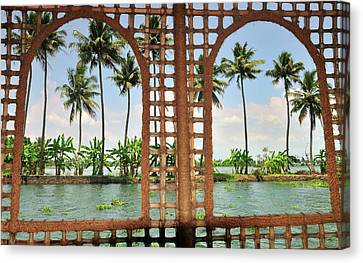 Exoticism Canvas Print - Shoreline Of The Kerala Backwaters by Steve Roxbury