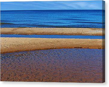 Canvas Print featuring the photograph Shoreline Reefs by Kathi Mirto