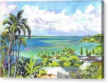 Shores Of Oahu Canvas Print by Carol Wisniewski