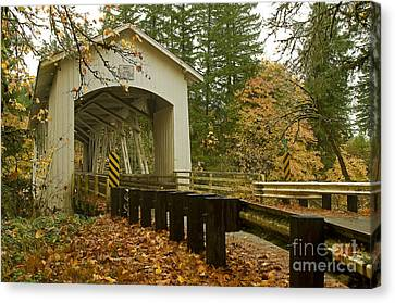 Short Covered Bridge Canvas Print by Nick  Boren