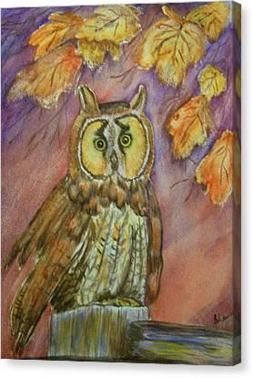 Short Eared Owl Canvas Print by Belinda Lawson