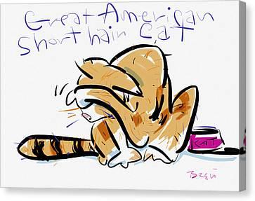 Short Hair Cat Canvas Print by Brett LaGue