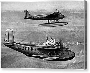 Short Mayo Composite Aircraft Canvas Print by Cci Archives