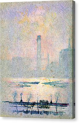 Shot Tower From Embankment 1880 Canvas Print by Padre Art