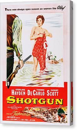 Covering Up Canvas Print - Shotgun, Us Poster Art, Yvonne De by Everett