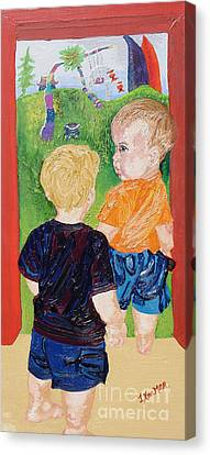 Should We Go In Canvas Print by Lisa Kramer