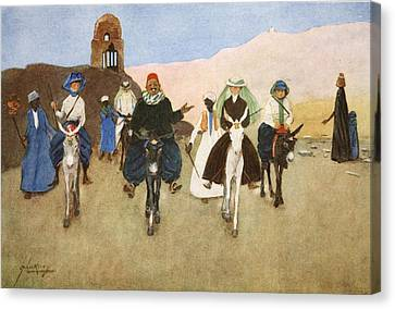 Should Women Ride Astride?, From The Canvas Print by Lance Thackeray
