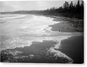 Winter At Wickaninnish Beach Canvas Print
