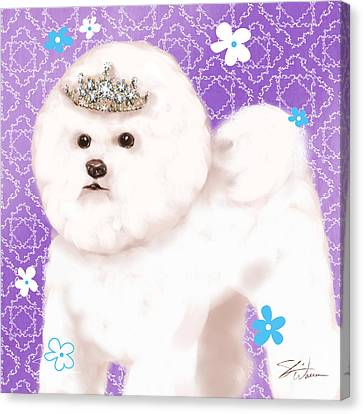 Show Dog Bichon Frise Canvas Print