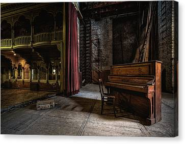 Empty Chairs Canvas Print - Show, Interrupted by Adrian Popan