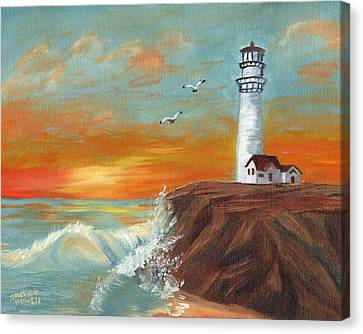Canvas Print featuring the painting Show Me The Way by J Cheyenne Howell