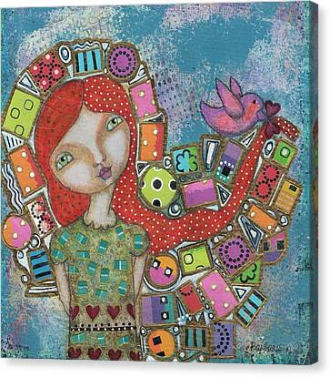 Canvas Print - Showered With Gifts by Barbara Orenya