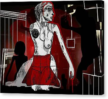 Showgirl Canvas Print by Franziska Kolbe