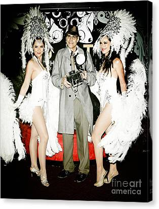 Show Girl Canvas Print - Showgirls And Photographer With Polaroid by Nina Prommer