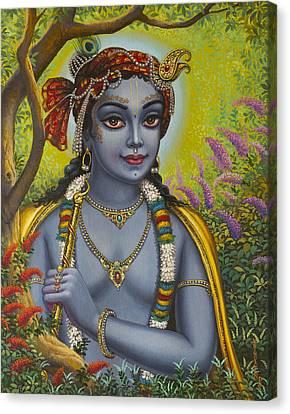 Shree Krishna Canvas Print by Vrindavan Das