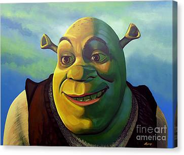 Comic. Marvel Canvas Print - Shrek by Paul Meijering