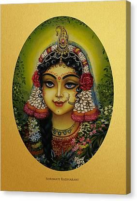 Shrimati Radharani Canvas Print by Vrindavan Das