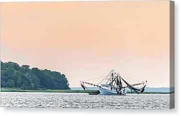 Shrimp Boat On The Edisto River - Fishing Boat Photograph Canvas Print by Duane Miller