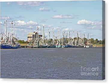 Shrimp Boats 2 Port Arthur Texas Canvas Print by D Wallace